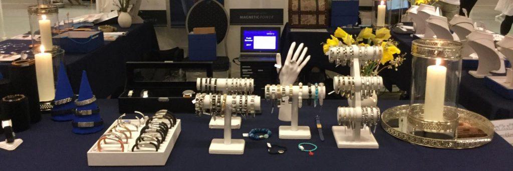 Magnethjerte pynter standen med magnetsmykker fra ENERGETX