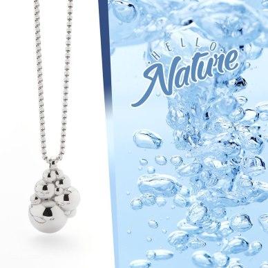 magnethjerte, elegante store perler i stål