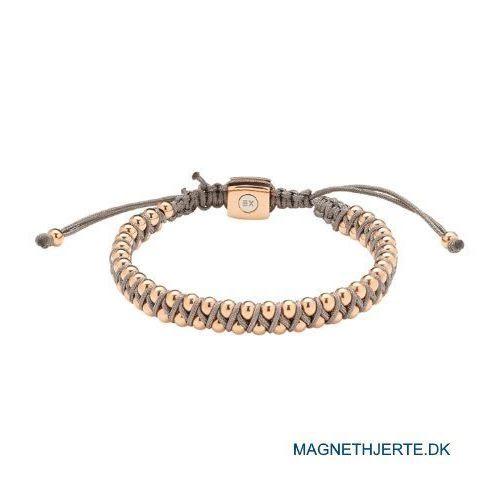 tekstilarmbånd med rosafarvede perler fra magnethjerte