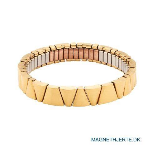 Fleksibelt magnetarmbånd i mat guld fra Magnethjerte