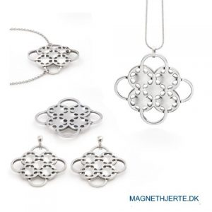 let og luftigt smykkesæt fra magnethjerte