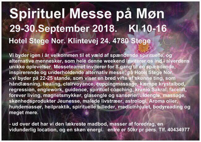 Magnethjerte til Spirituel Messe på Møn