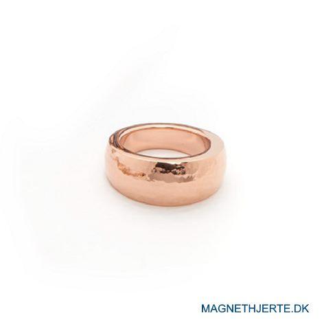 rosaforgyldt, slået fingerring fra Magnethjerte
