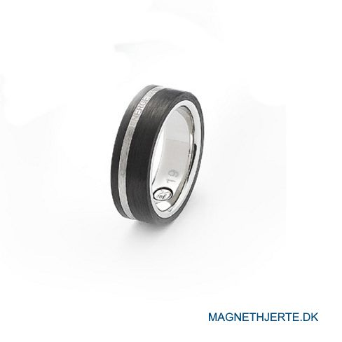 Moderne maskulin fingerring fra Magnethjerte