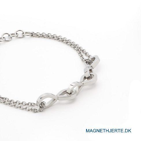 Dobbelradet armbånd fra Magnethjerte