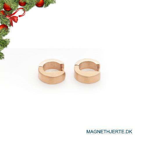 Rosaforgyldte øreringe fra Magnethjerte