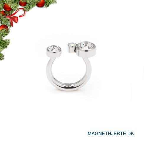 fingerring i usædvanligt design fra Magnethjerte