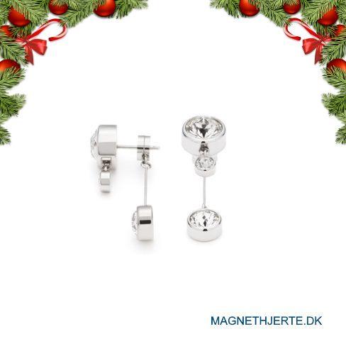 Elegante øreringe i poleret ædelstål fra Magnethjerte