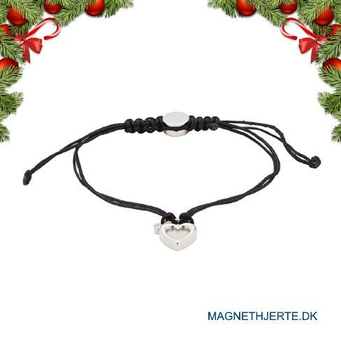 Elegante sorte armbånd fra Magnethjerte