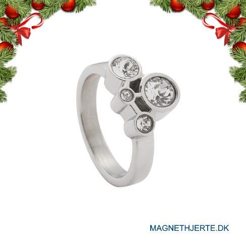 Elegant ring med Swarovski krystal fra Magnethjerte