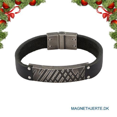 Maskulint læderarmbånd fra Magnethjerte