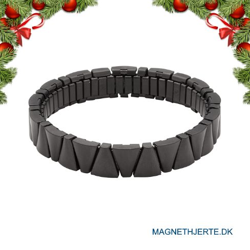 Mat sort flex armbånd fra Magnethjerte