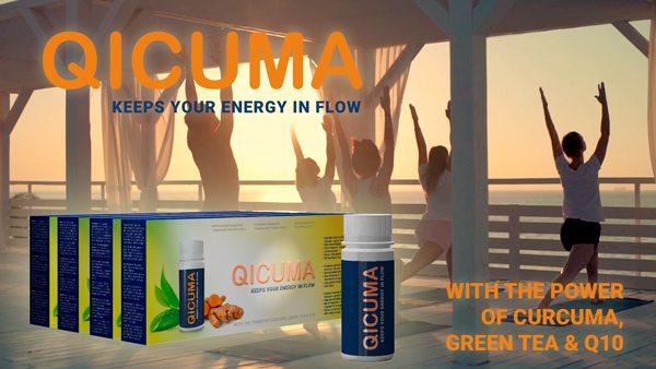 Qicuma Kosttilskud med gurkemeje fra magnethjerte