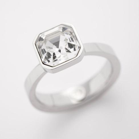 swarovski krystal i fingerring